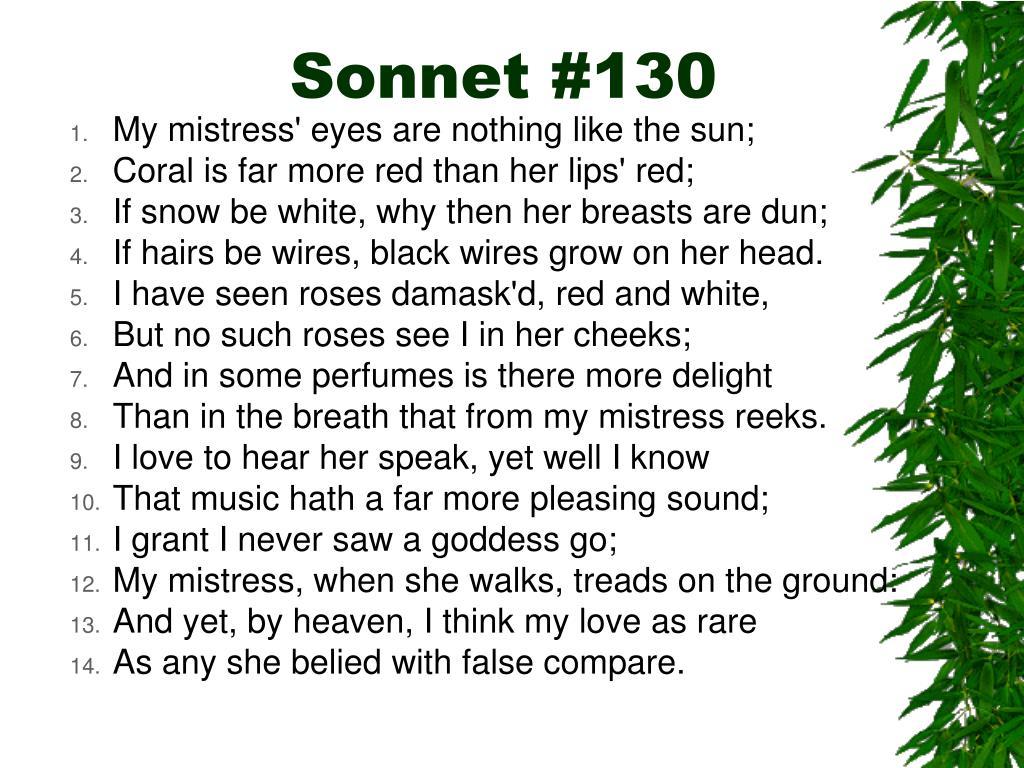 Sonnet #130
