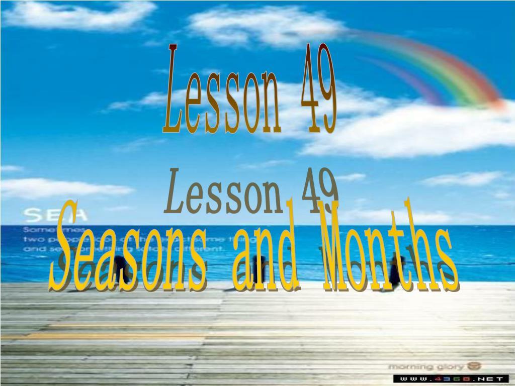 Lesson 49
