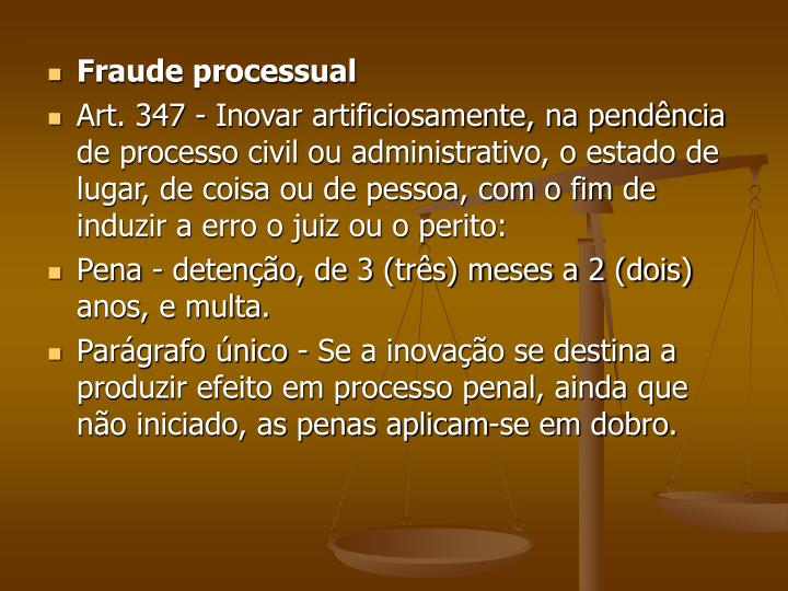 Fraude processual