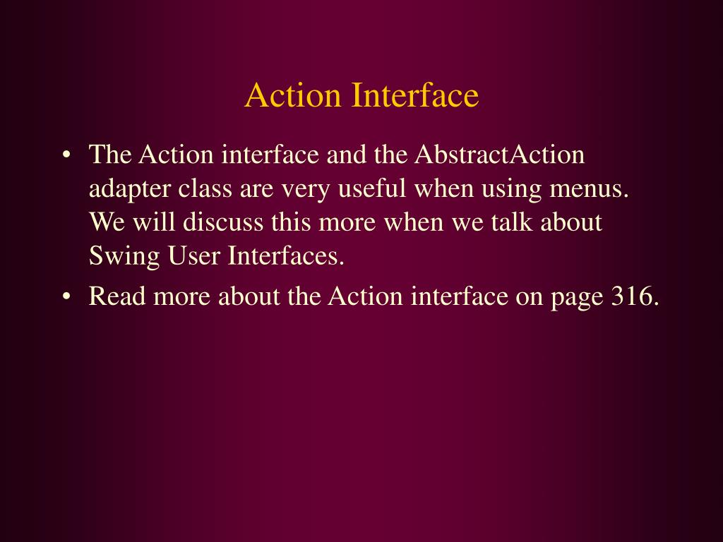Action Interface