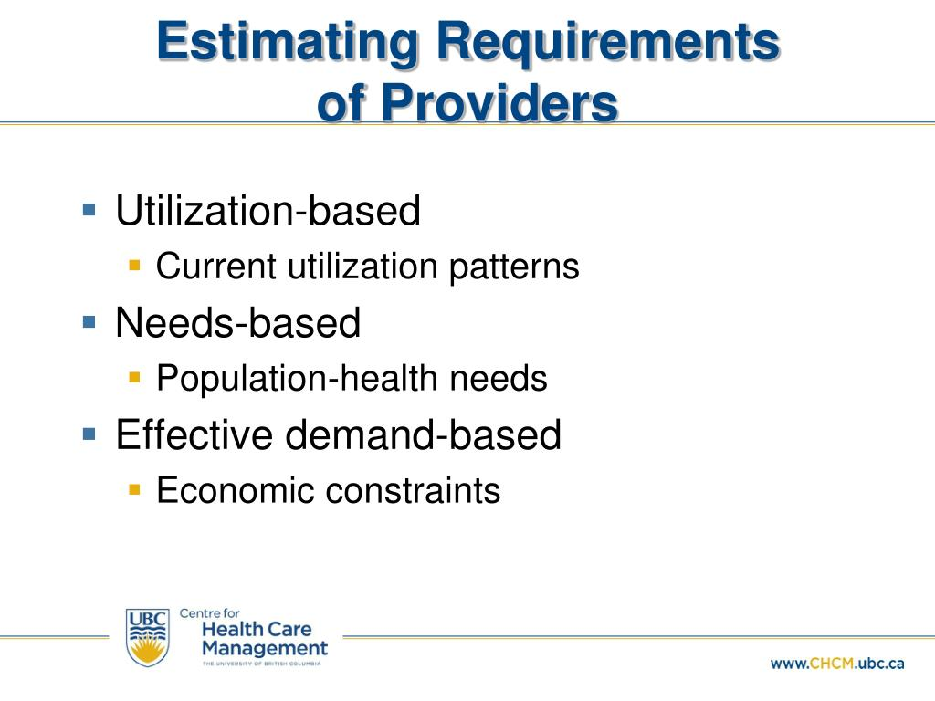 Estimating Requirements