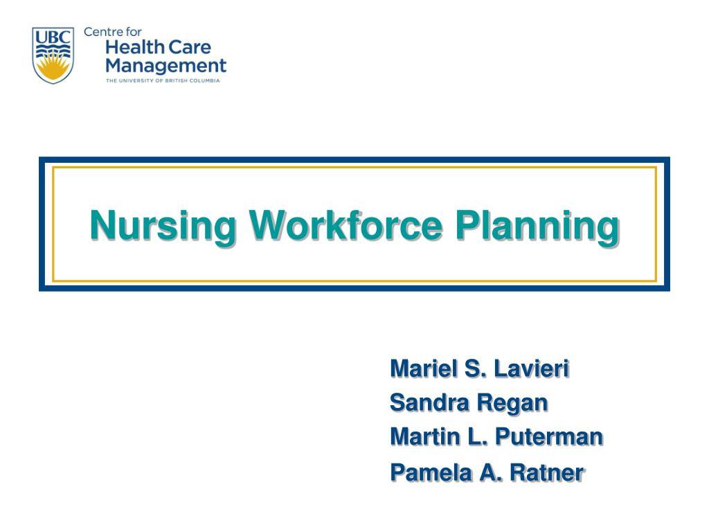 nursing workforce planning