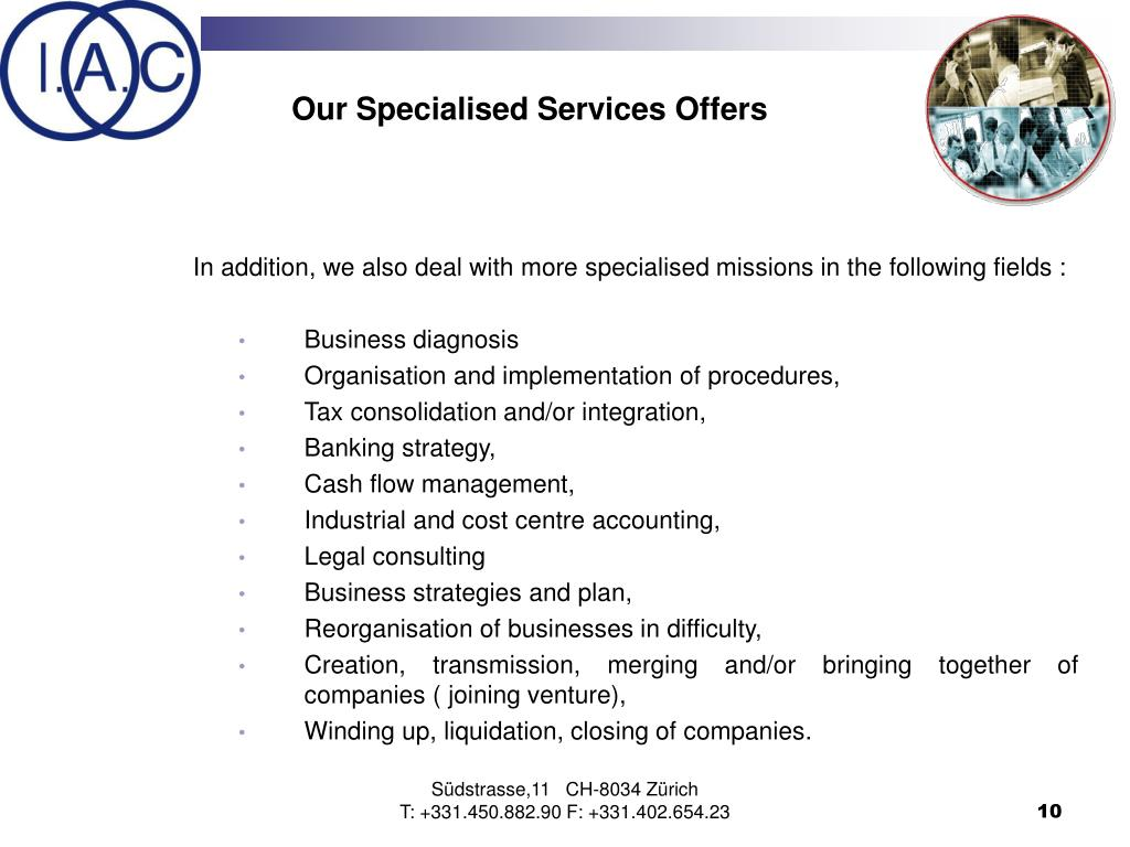 Our Specialised Services Offers