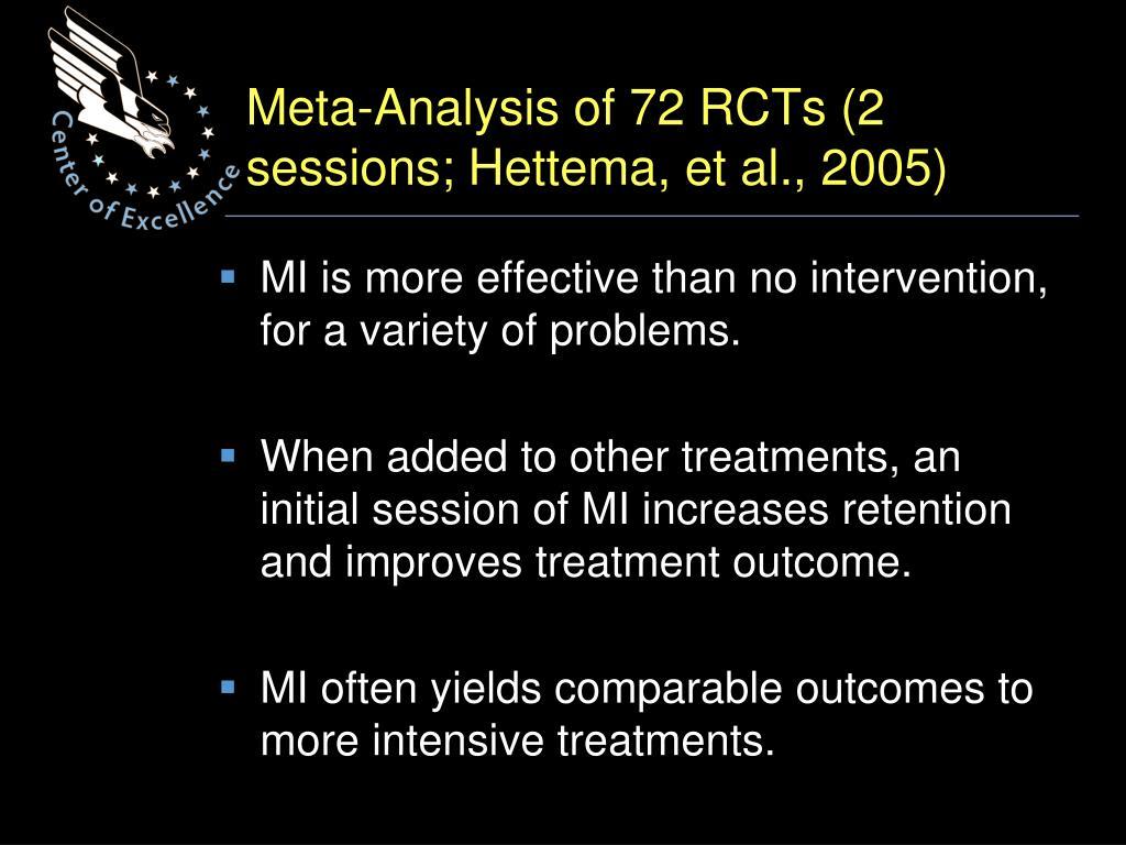 Meta-Analysis of 72