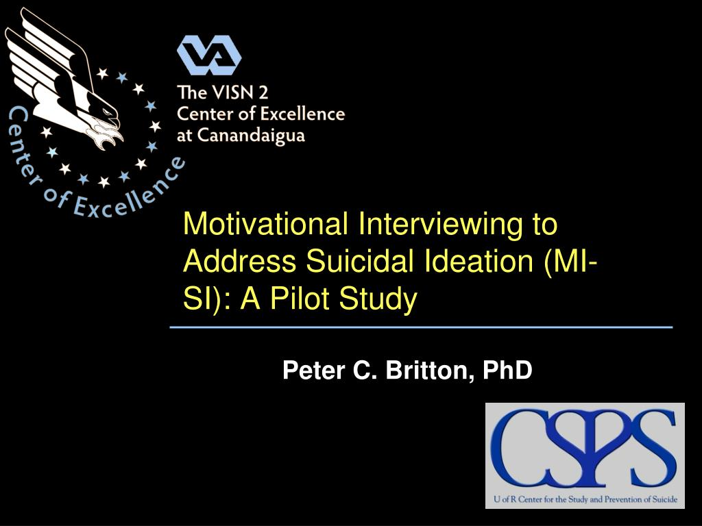 Motivational Interviewing to Address Suicidal Ideation (MI-SI): A Pilot Study