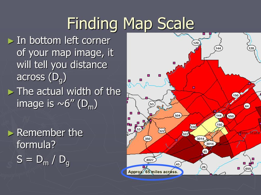Finding Map Scale