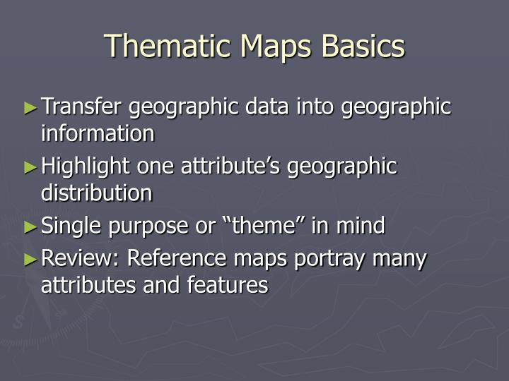Thematic maps basics