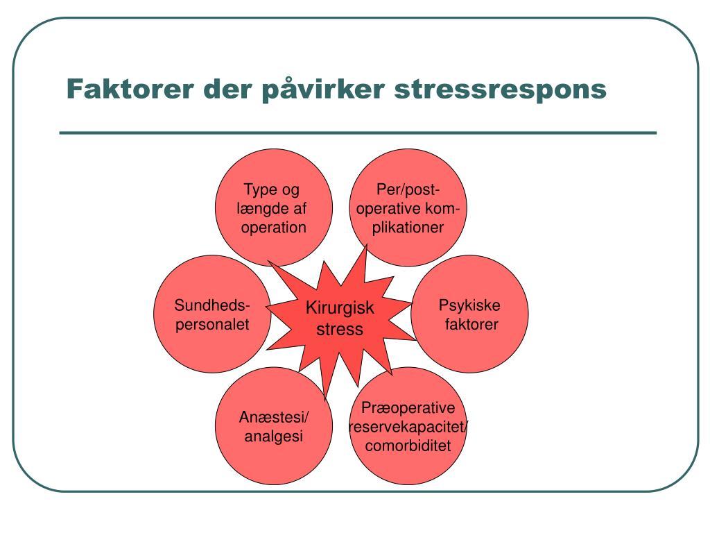 Faktorer der påvirker stressrespons