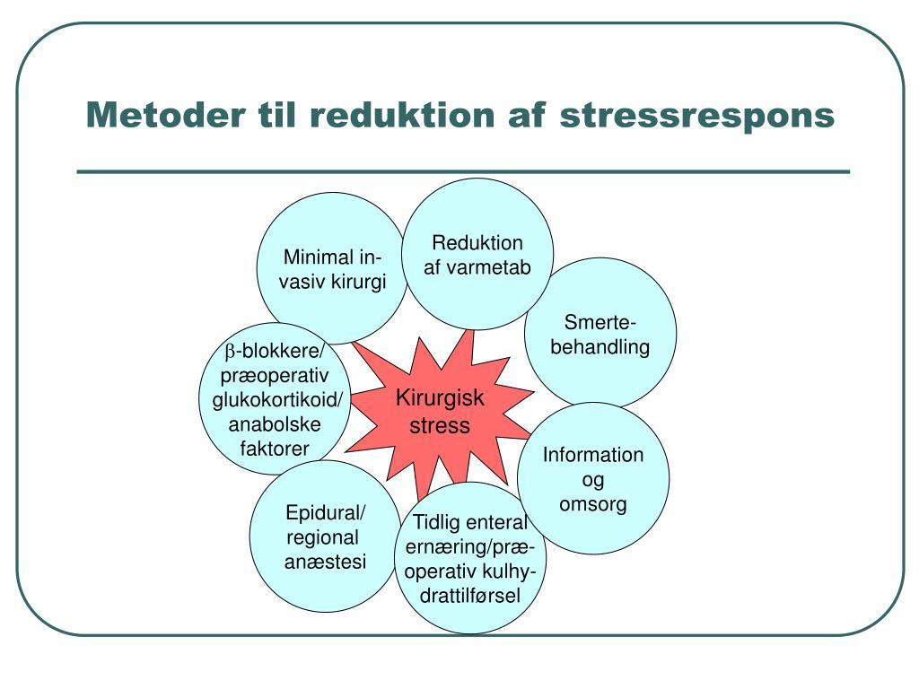 Metoder til reduktion af stressrespons