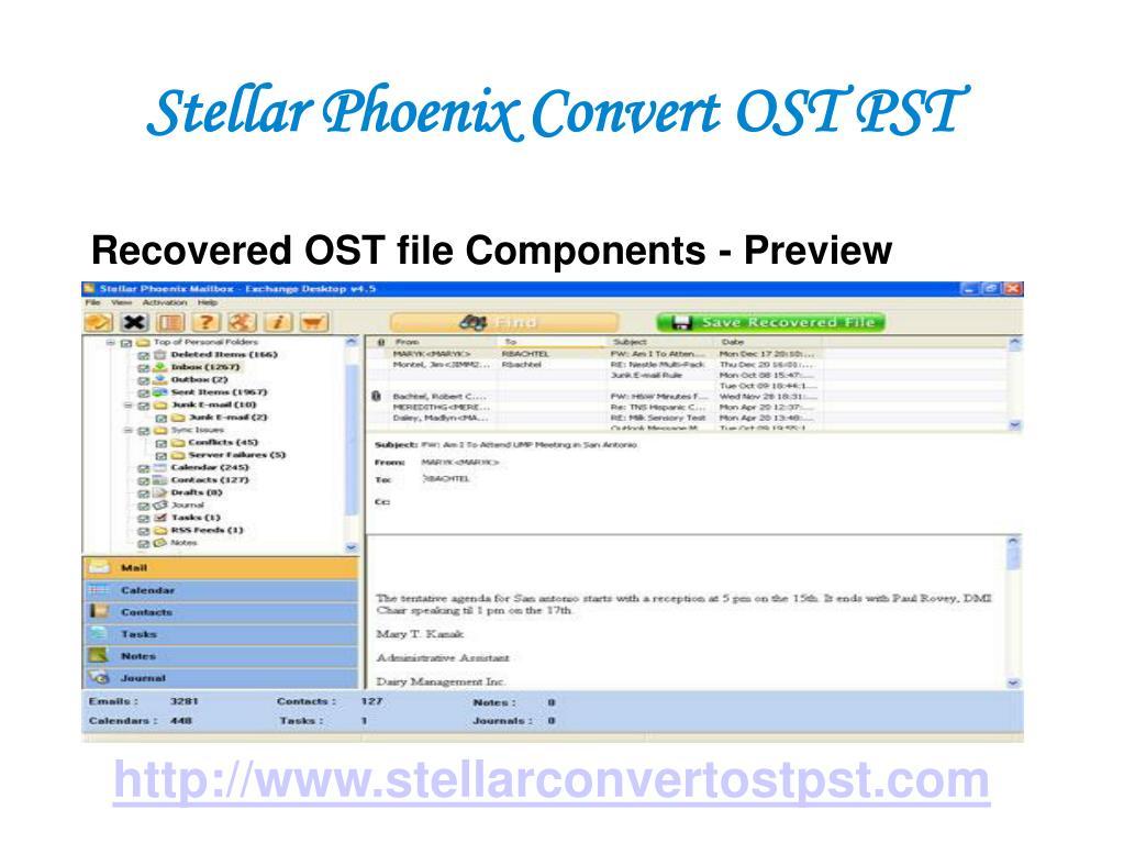 Stellar Phoenix Convert OST PST