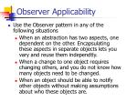 observer applicability