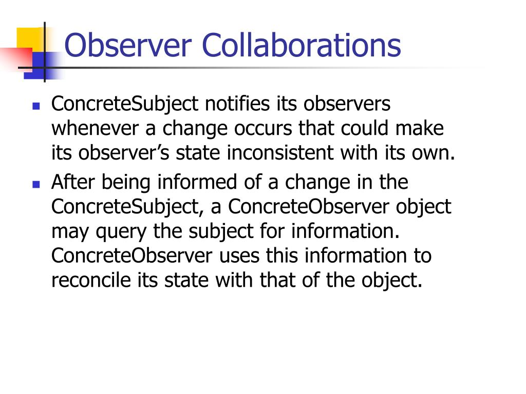 Observer Collaborations