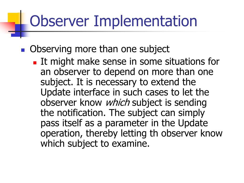 Observer Implementation
