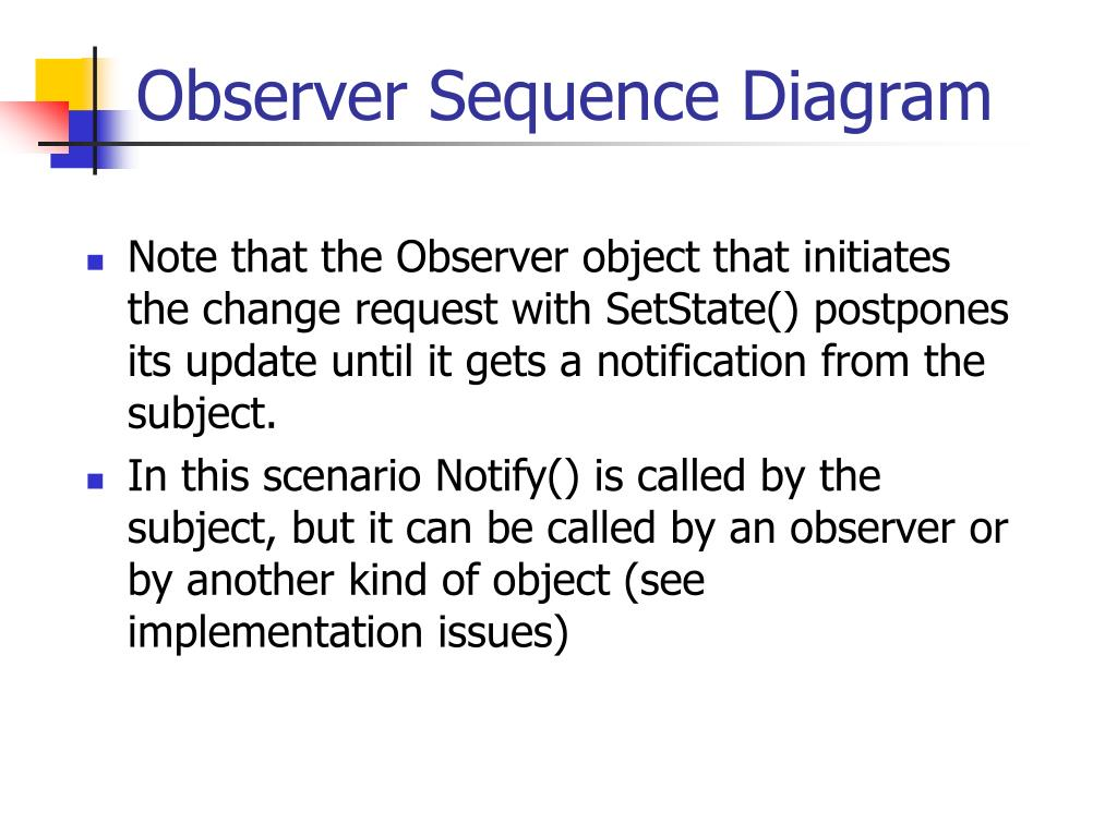Observer Sequence Diagram