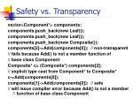 safety vs transparency42