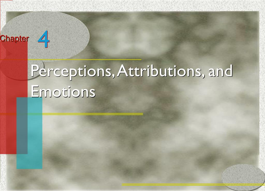perceptions and attributions Self-perception theory (bem, 1965, 1972) can be viewed as one portion of a  general set of propositions commonly referred to as attribution theory like other .