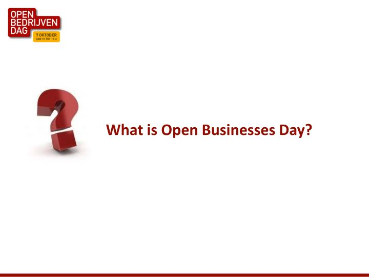 What is open businesses day