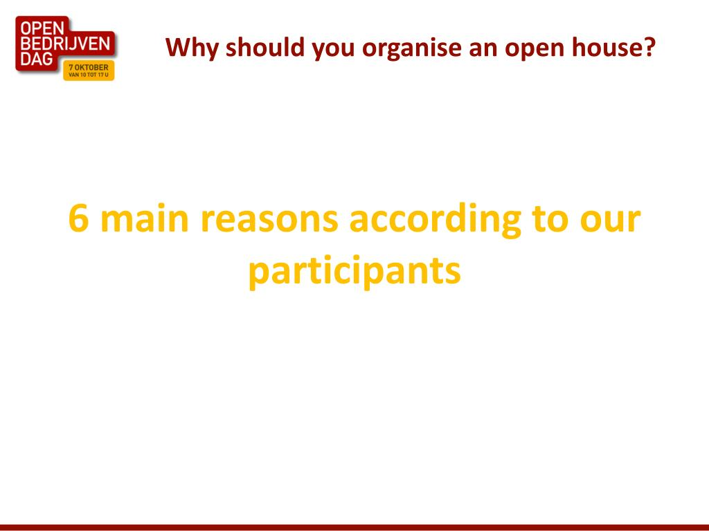 Why should you organise an open house