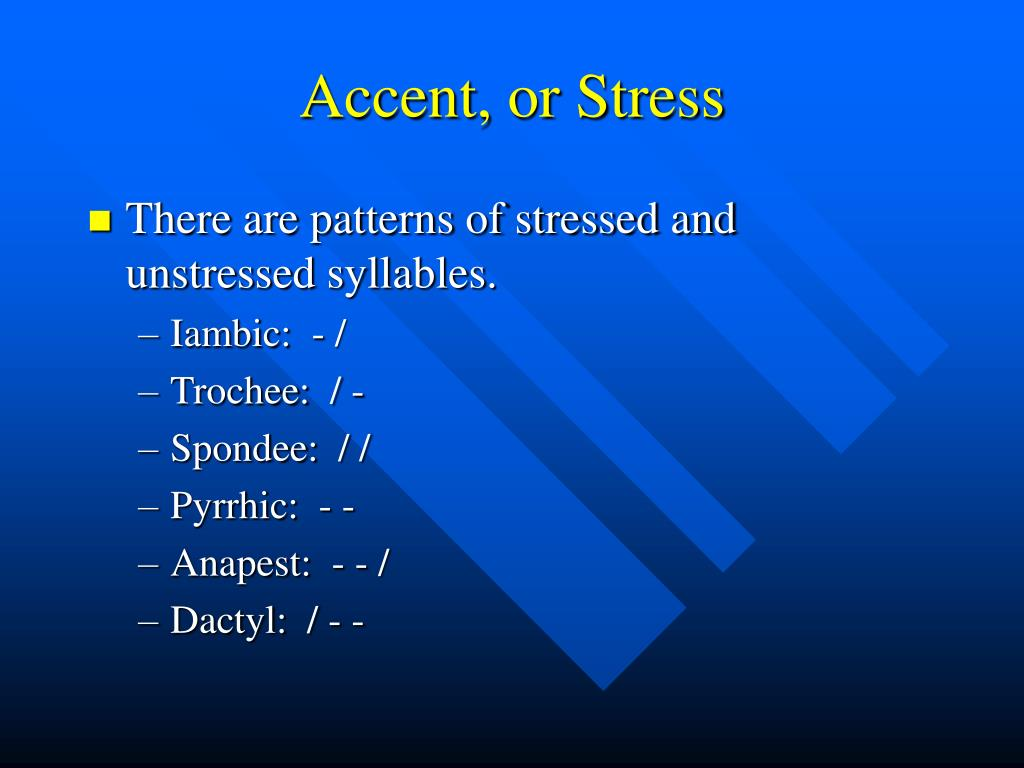 Accent, or Stress