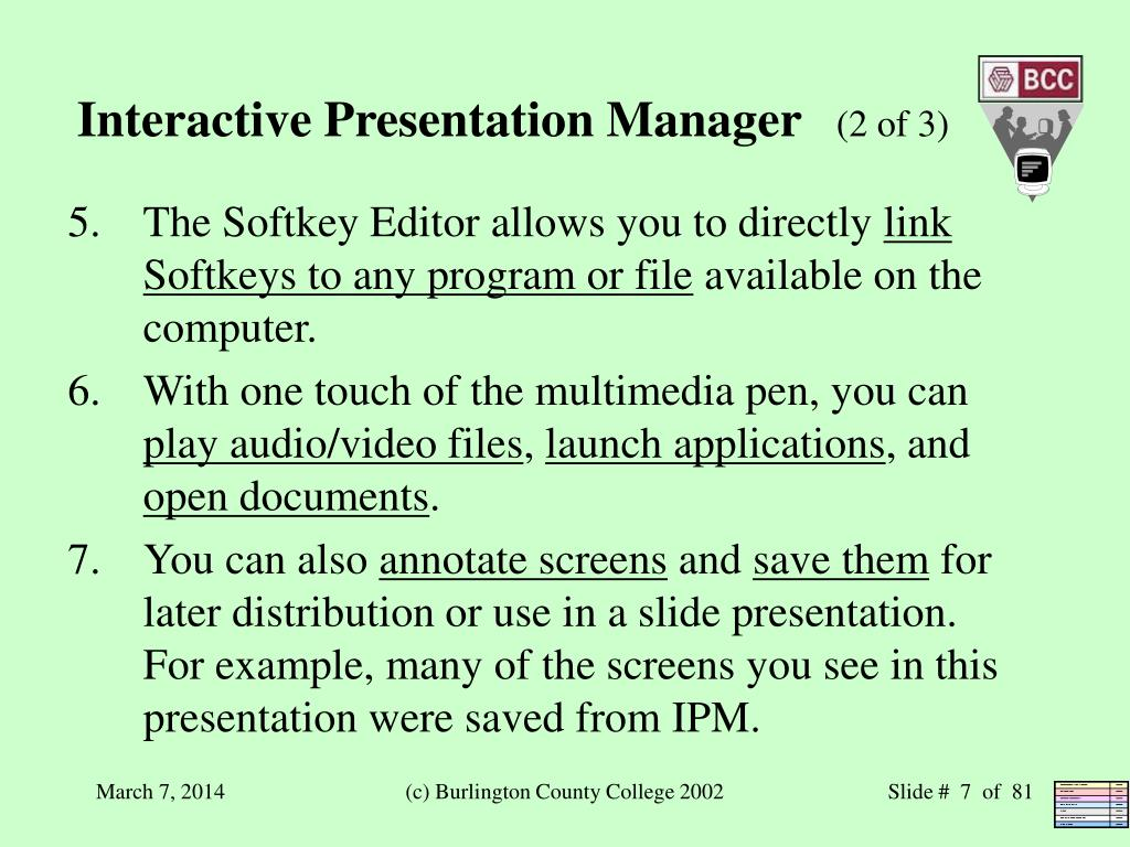Interactive Presentation Manager