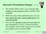 interactive presentation manager 2 of 3