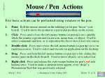 mouse pen actions