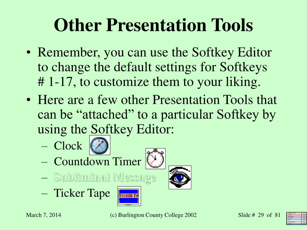 Other Presentation Tools
