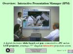 overview interactive presentation manager ipm