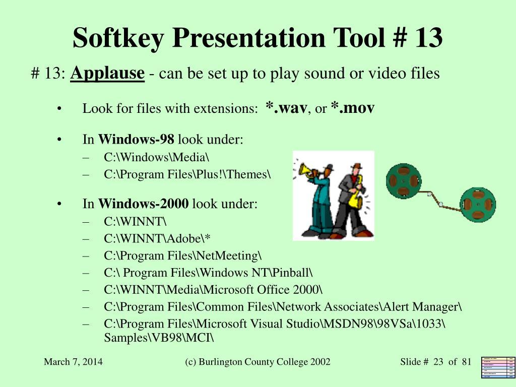 Softkey Presentation Tool # 13