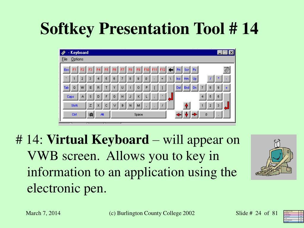 Softkey Presentation Tool # 14