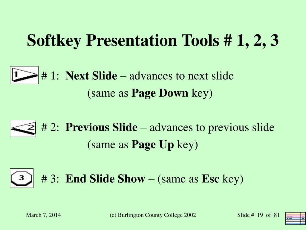 Softkey Presentation Tools # 1, 2, 3