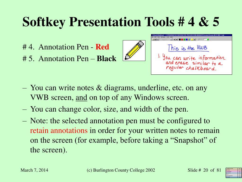 Softkey Presentation Tools # 4 & 5