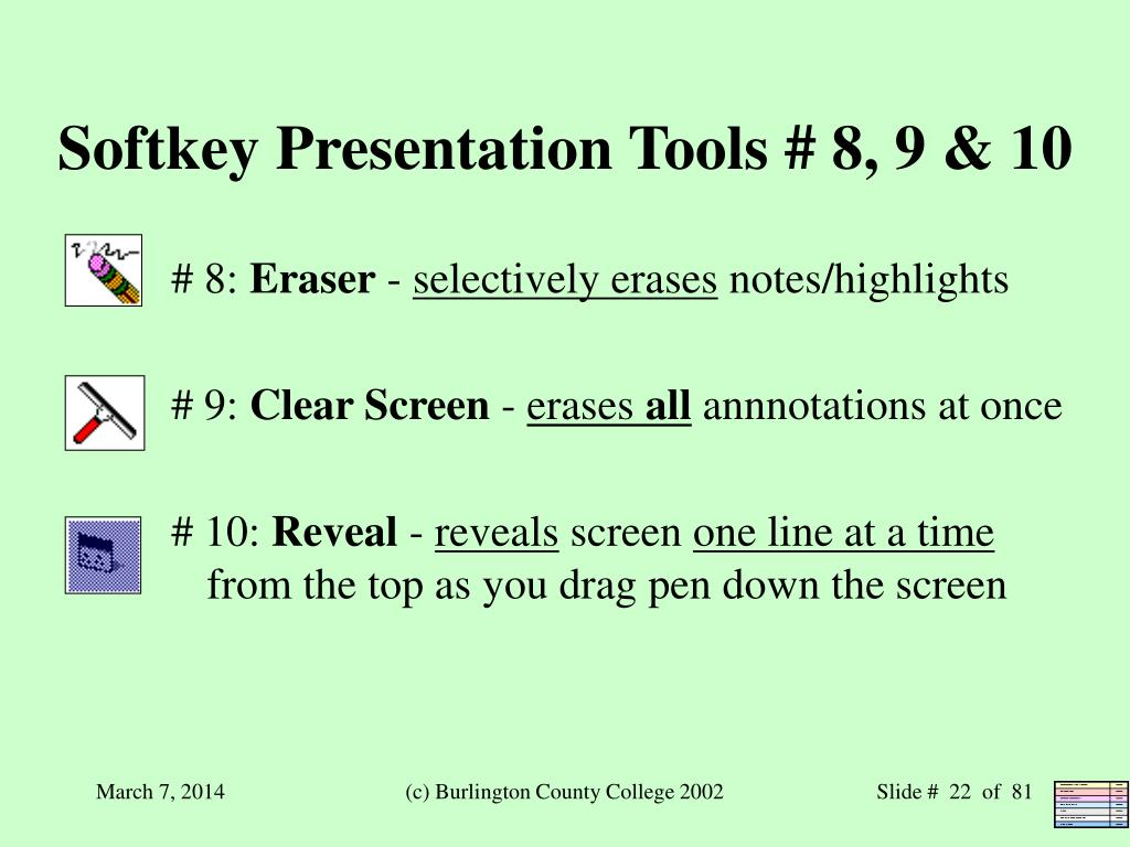 Softkey Presentation Tools # 8, 9 & 10