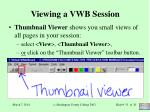viewing a vwb session