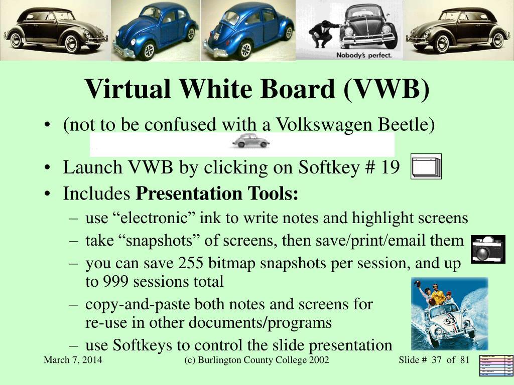 Virtual White Board (VWB)