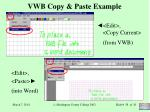 vwb copy paste example