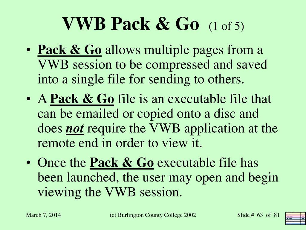 VWB Pack & Go