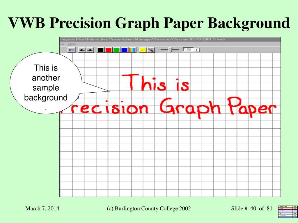 VWB Precision Graph Paper Background