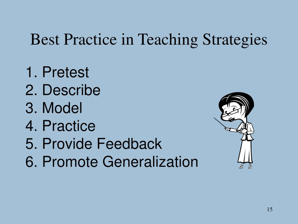Best Practice in Teaching Strategies