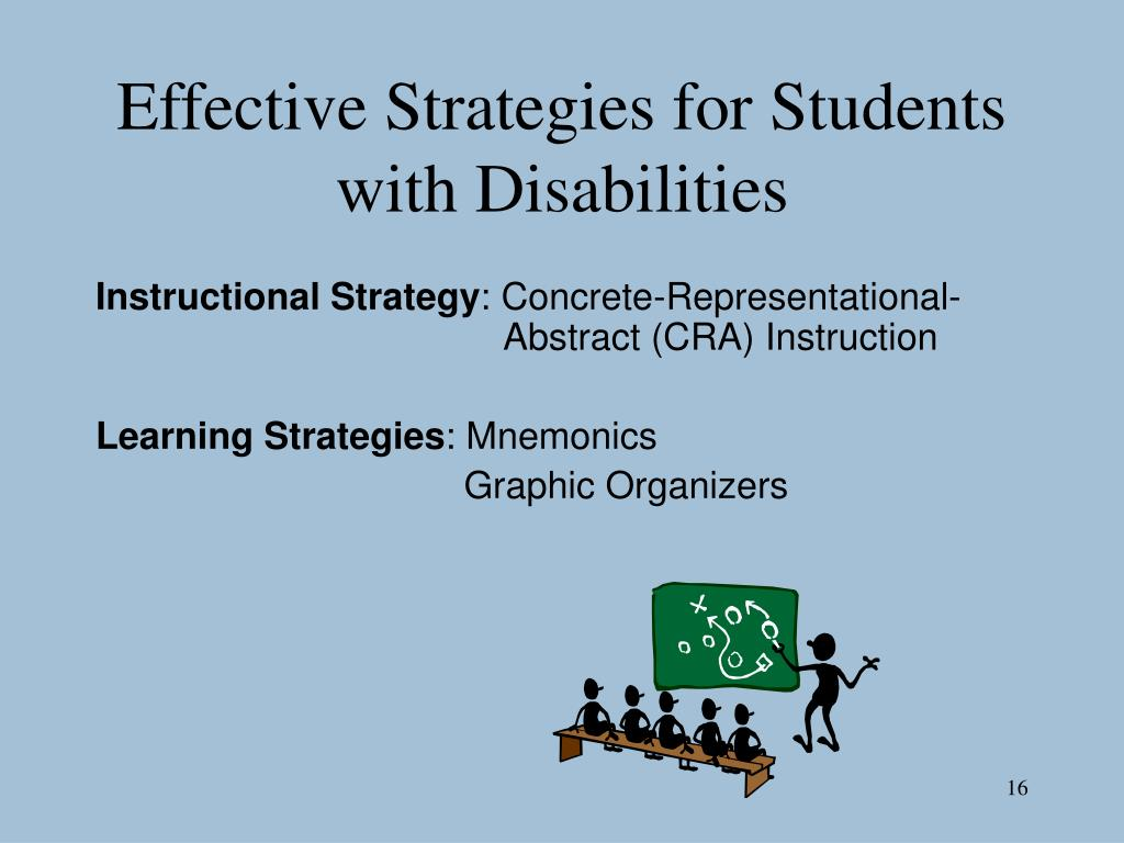 Effective Strategies for Students with Disabilities