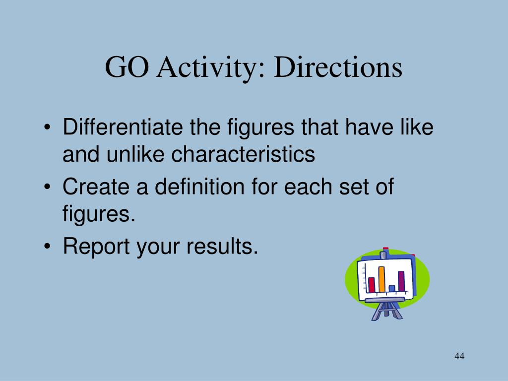 GO Activity: Directions