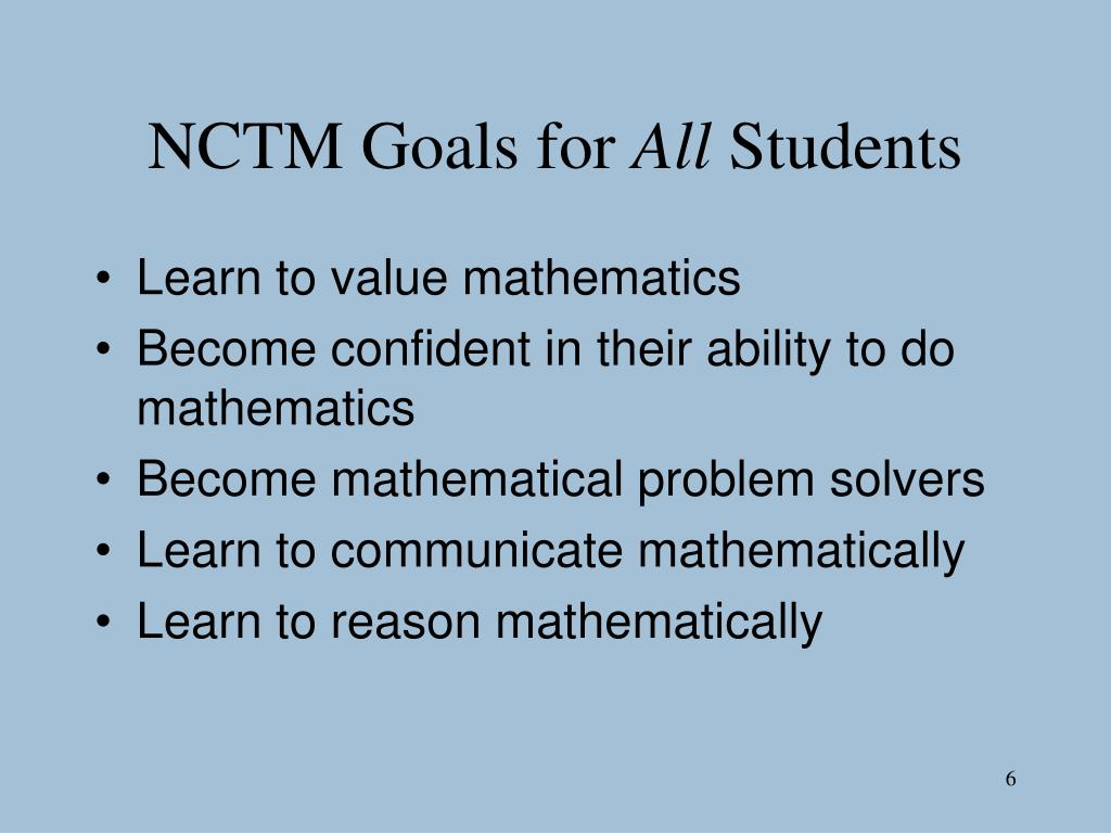 NCTM Goals for