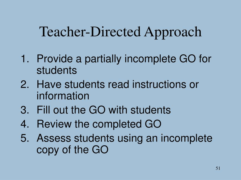 Teacher-Directed Approach