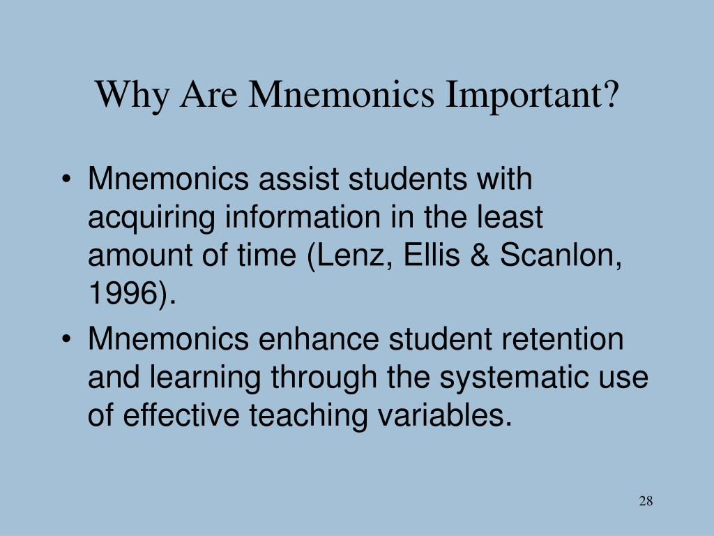Why Are Mnemonics Important?