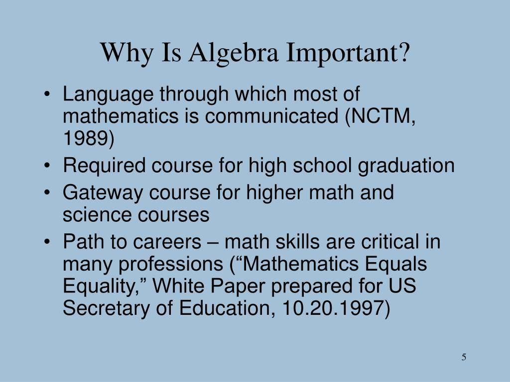 Why Is Algebra Important?