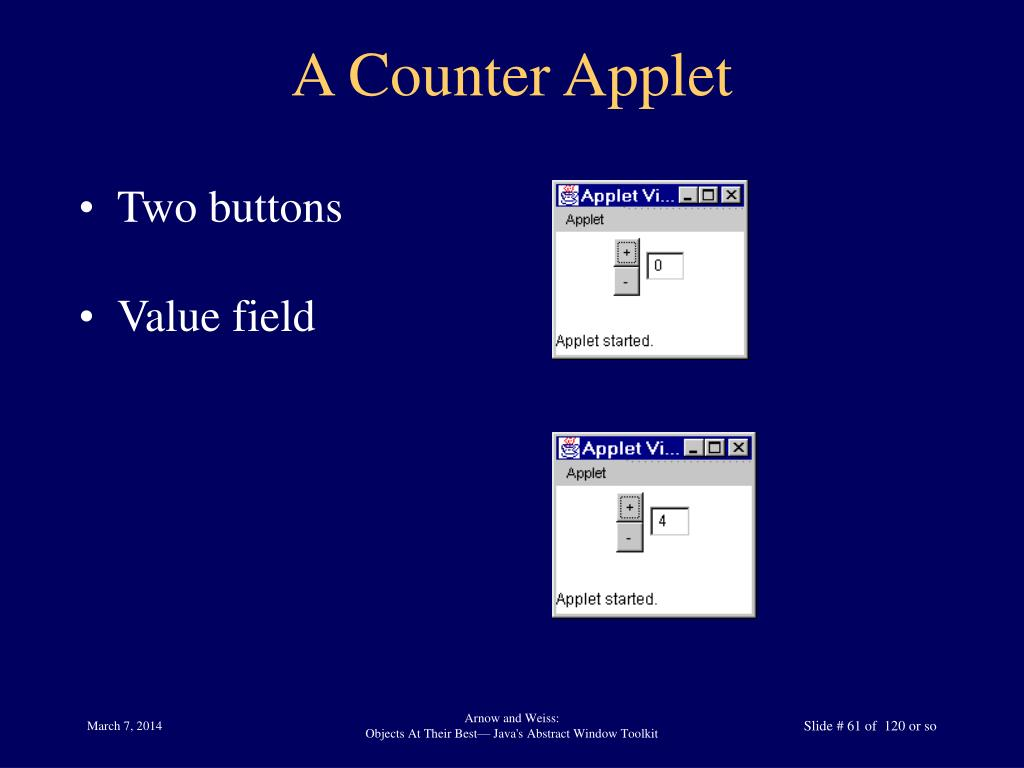 A Counter Applet