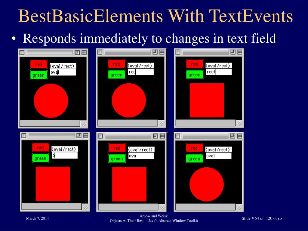 BestBasicElements With TextEvents