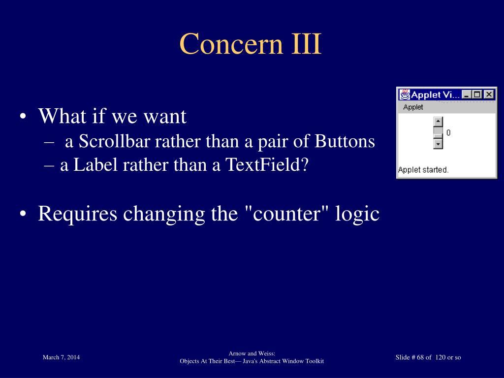 Concern III