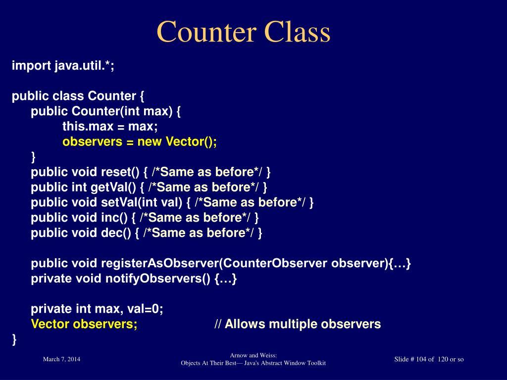 Counter Class