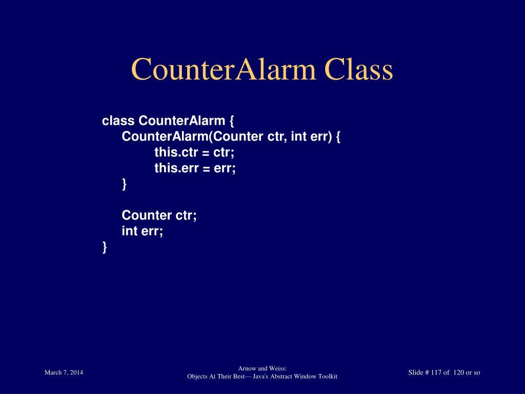 CounterAlarm Class
